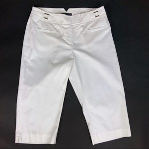 Grace Elements White Crop Pants Size 8